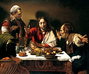 Supper at Emmaus, 1601. Oil on canvas, . Natio...