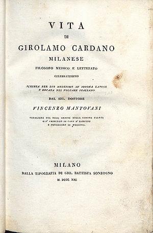 Gerolamo Cardano - De propria vita, 1821