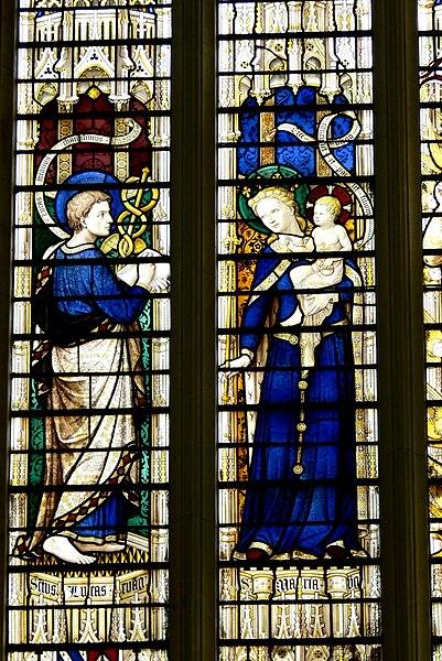 File:Cardiff St.John - Fenster 2a Lukas und Maria.jpg