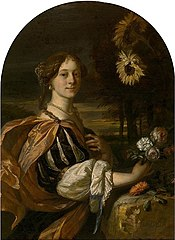Portrait of a Woman with Sunflowers