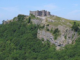 Carreg Cennen seen from the southeast - geograph.org.uk - 211604.jpg