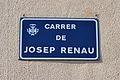 Carrer de Josep Renau de Borbotó, placa.JPG