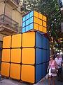 Carrers guarnits Gràcia 2012 - Tordera, Cub de Rubik.JPG