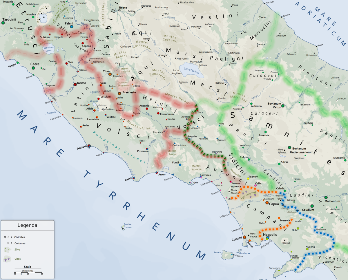 Cartina Lazio E Campania.Guerra Latina Wikipedia