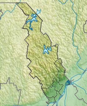 Voir la carte administrative de la zone Lanaudière