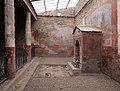 Casa della fontana piccola, cortile con affreschi e fontana mosaicata 01.jpg
