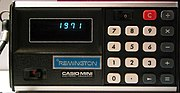 The CASIO CM-602 Mini Electronic Calculator provided basic functions in the 1970s