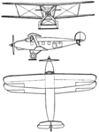 Caspar C 35 3-view Le Document aéronautique November,1928.png