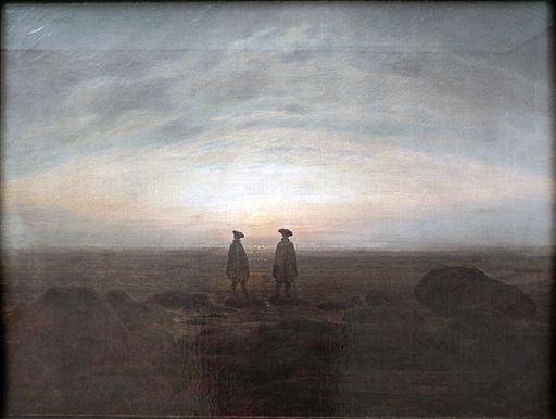 Caspar David Friedrich (5)Two Men by the Sea