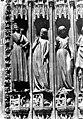 Cathédrale Notre-Dame - Portail sud de la façade ouest. Statues de l'ébrasement gauche - Vierges folles - Strasbourg - Médiathèque de l'architecture et du patrimoine - APMH00007654.jpg
