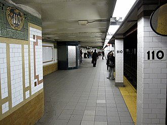 Cathedral Parkway–110th Street (IRT Broadway–Seventh Avenue Line) - Downtown platform