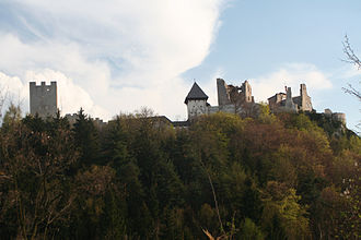 Medieval warfare - Celje Castle in Slovenia.