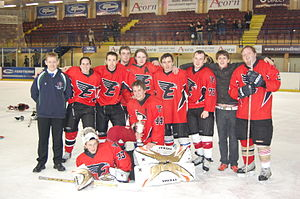 Ice hockey in Scotland - The Edinburgh Eagles celebrate their victory in 2009
