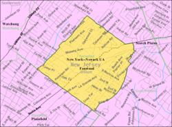 Census Bureau map of Fanwood, New Jersey