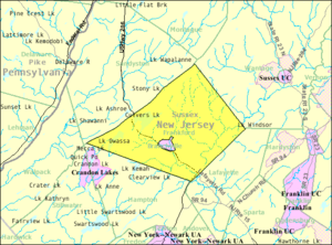Frankford Township, New Jersey - Image: Census Bureau map of Frankford Township, New Jersey