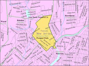 Prospect Park, New Jersey - Image: Census Bureau map of Prospect Park, New Jersey