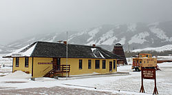 The old Union Pacific depot in Centennial, now a museum.
