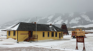 Centennial, Wyoming - The old Union Pacific depot in Centennial, now a museum.