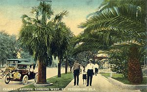 St. Petersburg, Florida - Central Avenue c. 1910