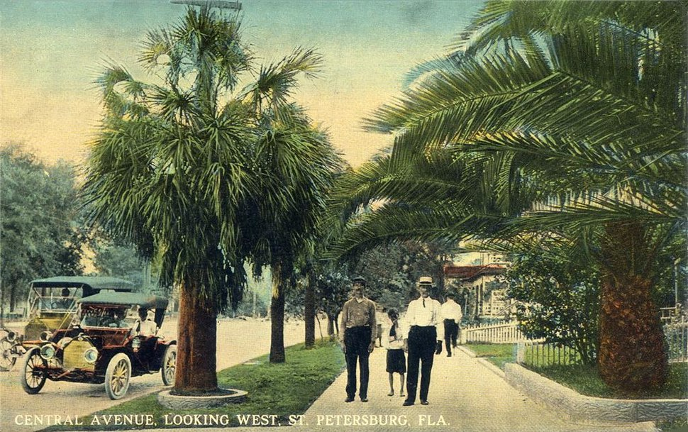 Central Avenue, Looking West, St. Petersburg, FL