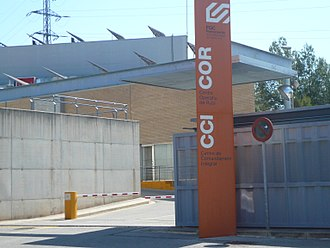 Barcelona–Vallès Line - Entrance to Rubí Operations Center.