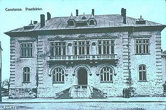 Constanța County - The Constanța County Prefect's building from the interwar period, currently used as headquarters of the Constanța military district.