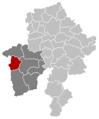 Cerfontaine, Belgium - Image: Cerfontaine Namur Belgium Map