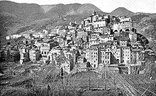 Ceriana in una foto del primo Novecento