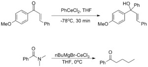 Organocerium chemistry - Reactivity and selectivity of organocerium compounds
