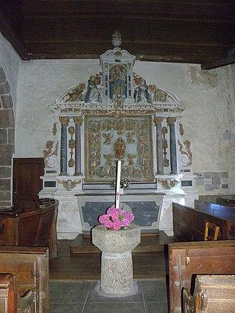 Tugal Caris - Image: Châtillon sur Colmont (53) Église Retable du Rosaire