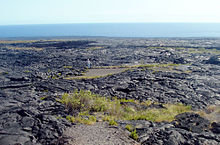 lava with a bit of road showing
