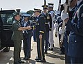 Chairman of the Joint Chiefs of Staff U.S. Army Gen. Martin E. Dempsey, center foreground, welcomes Chief of Staff of the Armed Forces of the Philippines Gen. Emmanuel Bautista to the Pentagon in Arlington, Va 130822-D-HU462-018.jpg