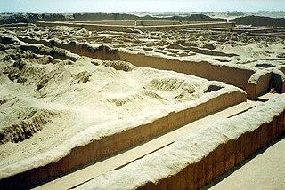 Chan Chan cultural heritage site in Peru
