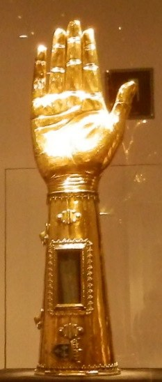 Charlemagne arm at Cathedral Treasury Aachen Germany