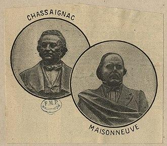 Édouard Chassaignac - Tableau of Chassaignac and Jules Germain François Maisonneuve.