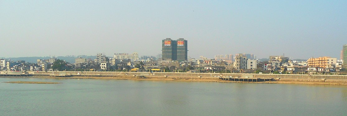 Chengmai - skyline viewed from south side of Nandu River.jpg