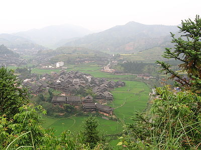 Chengyangqiao village, South Guizhou, China.JPG