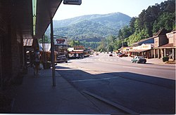 Main street of Cherokee