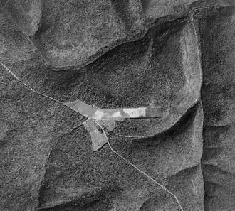 Cherry Springs State Park - 1938 aerial view of the park, airport, PA 44, West Branch Pine Creek, and Hopper House Run