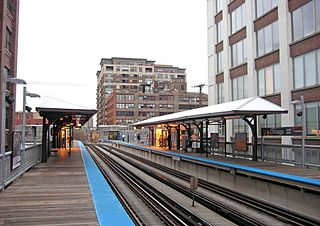 "Chicago station (CTA Brown and Purple Lines) Chicago ""L"" station"