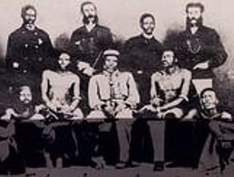 Gcaleka - King Sarili ka Hintsa (centre seated) with councillors.
