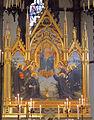 Chiesa dei sette santi, fi, int., trittico di giuseppe cassioli, 1934.JPG