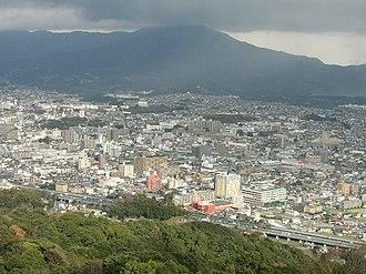 Chikushino, Fukuoka - Panoramic view of downtown Futsukaichi