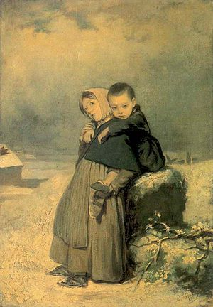 English: Vasily Perov. Children-Orphans on the...