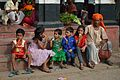 Children with Asta Santra - Hatanakhya Mahadev Mandir Stairs - Bainan - Howrah 2015-04-14 8010.JPG
