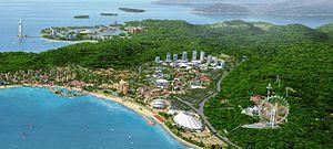 Chimelong International Ocean Resort - Artist's impression of the completed resort.