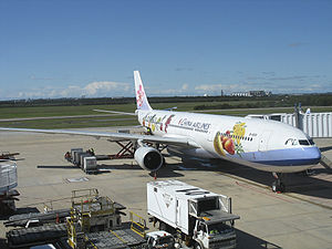 China Airlines' Airbus A330 in special livery.