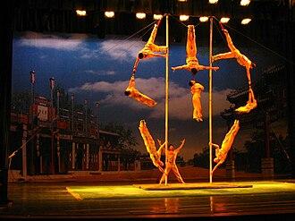Chinese pole - Image: Chinese Pole Dance
