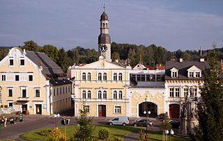 Chrastava Town in the Czech Republic