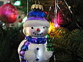 Christmas ornament snowman lights.JPG